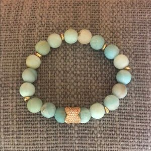 AquaMarine Bracelet on stretch cord, NWT